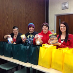 Social Work Club Collects Food for Families in Need